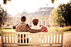 couple on bench photo